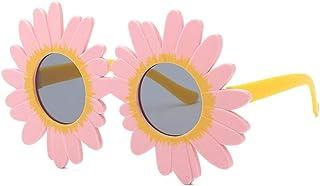 CeciliaJas - Moda Gafas De Sol Niños Adorable Margarita Flor Encaje Gafas De Sol Fiesta Redonda Gafas De Sol Decorativas para Niña Al Aire Libre Sombra Rosa