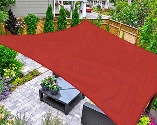 AsterOutdoor Sun Shade Sail 8' x 12' UV Block Canopy Only $29.99 Shipped