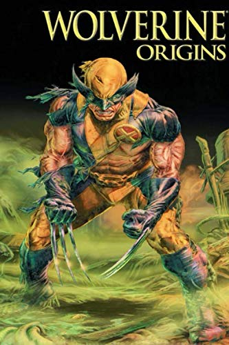 Wolverine Origins: Notebook, Marvel Tops DC, Comics, Superhero, Cartoon Character, Journal, Diary (130 Pages, 6' x 9', in lines with a margin), ... for Kids Teens Students Adults, Cover Soft