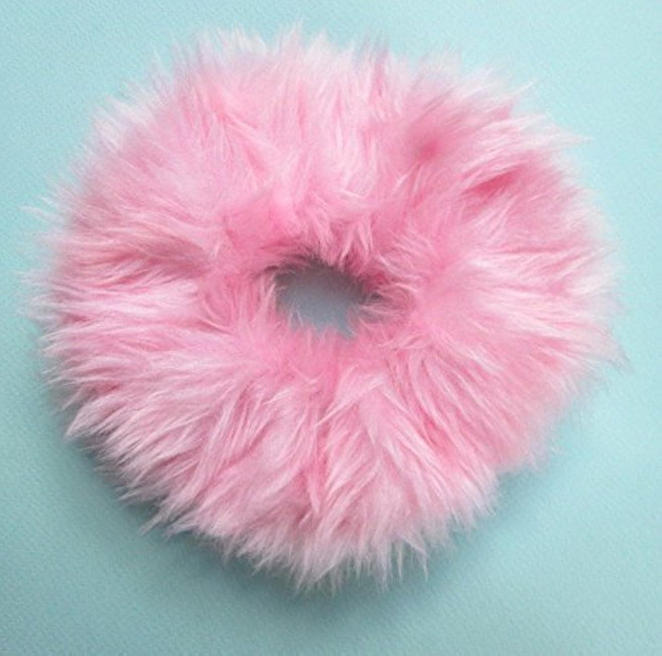Fluffy Fuzzy Pink Scrunchie Fur Hair Tie Britney Spears Clueless 90s Pastel Goth Hair Tie Large Kawaii Handmade Ponytail Holder Pink Fur Hair Band