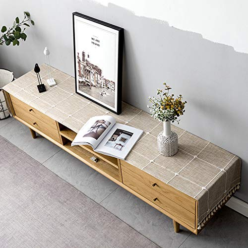 Modern and Simple Large Square Solid Color Table Runner, Used for 45x240 cm