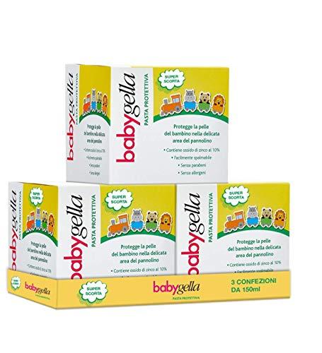 Babygella Babygella Pasta Protettiva Per Progettere La Pelle Dedicata Del Bambino, Maxi Formato Da 3 Confezioni Da 150Ml Cadauno - 450 ml