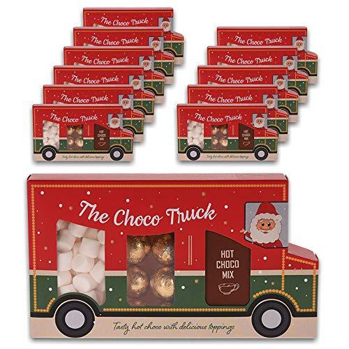 The Winter Choco Truck - Trinkschokolade, Marshmallows und goldene Schoko-Pralinen - 12 x 125 g