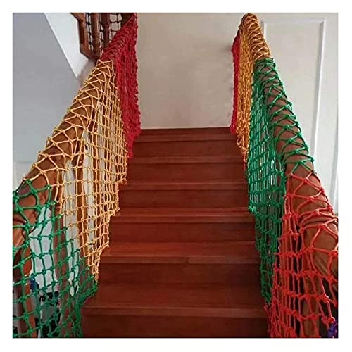 Lanrui Malla Color Balcony Netting, Niños Protectora Decoración Net, Anti-Otoño Protección Protección Cerca Cuerda Tejido, Escaleras al Aire Libre Balcón Patios Red de Seguridad Red Balcon