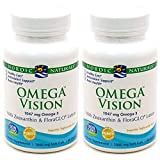 Nordic Naturals Omega Vision, Lemon - 60 Soft Gels - Pack of 2-1460 mg Omega-3 + FloraGLO Lutein & Zeaxanthin - Eye Health, Brain Health, Antioxidant Support - Non-GMO - 60 Total Servings