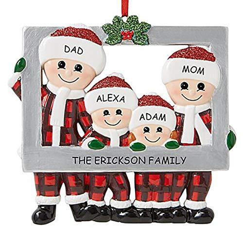 Adornos De Navidad De Resina Personalizados 2020, Colgante De Árbol De Navidad De Muñeco De Nieve, Marco De Fotos De Familia De Navidad