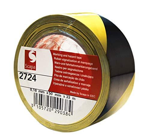 Scapa - Scapa 2724 nastro adesivo segnalazione pavimenti zone alto passaggio 50mm X 33MT rosso/bianco-giallo/nero - Giallo/nero