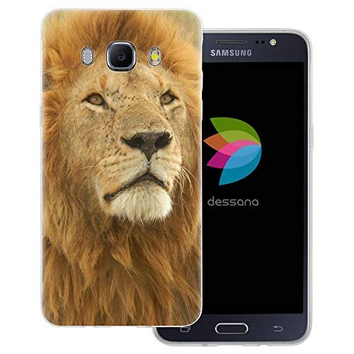 dessana Lewe - Cover trasparente per Samsung Galaxy J5 (2016), motivo: leone maschile