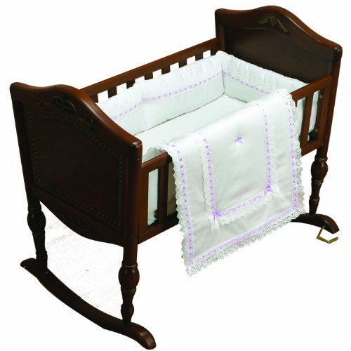 Baby Doll Bedding Royal Classic Mini Crib/Port-a-Crib Bedding Set, Lavender