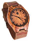 Men's Wood Watch, Natural Bamboo and Sandalwood with Quartz...