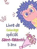 Livre de Coloriage spécial Saint-Valentin 5 ans: Livre D'activités saint valentin Pour enfants : Coloriage,Labyrinthes,Addition et ... Et S'amause Cadeau filles et garçons.