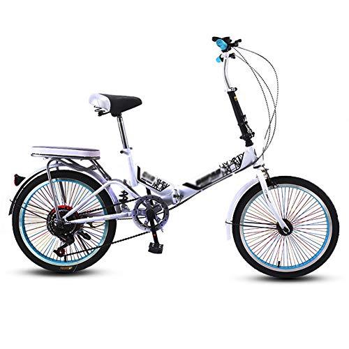 ZHIFENGLIU Bicicletas Plegables, Unisex Y Pequeños Scooters Convenientes, Diseño De Aleación De Absorción De Impactos De Ocio Scooters De Aluminio,Blanco