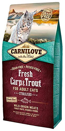 Carnilove Carnilove Fre Carp & Trout Sterilise Comida Deshidratada Para Gato 400Gr - Paquete de 22 x 18.18 gr - Total: 400 gr