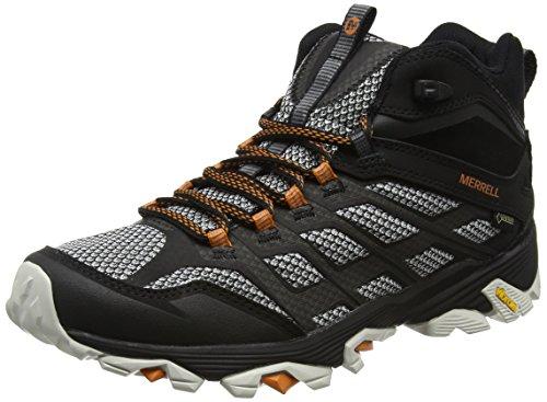 Merrell Moab Fst Mid Gtx, Herren Trekking- & Wanderstiefel, Schwarz (Black), 42 EU (8 UK)