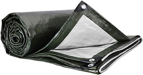 Bache LXF Imperméable Multicouche Tarps Couverture De Remorque De Tente Imperméable à l'eau Au Sol De Nombreuses Tailles Portable Camping Backpacking 180G   M2 (Taille   6MX8M)