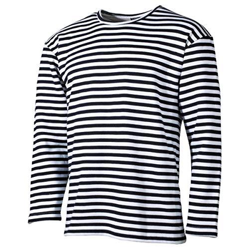 MFH Russisches Marine T-Shirt Langarm Winter (Blau-Weiß/XL)