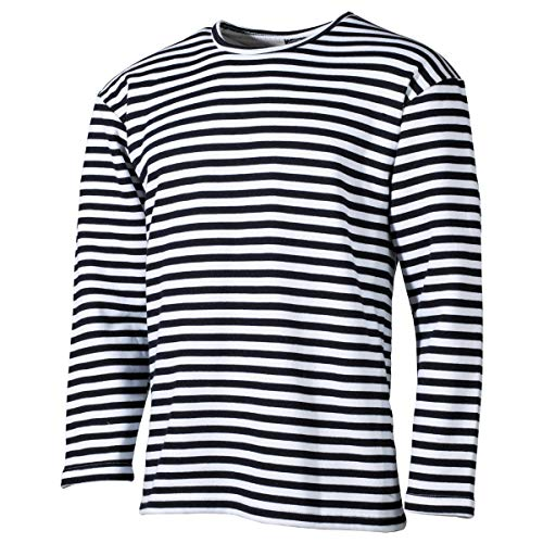 MFH Russisches Marine T-Shirt Langarm Winter (Blau-Weiß/XL)