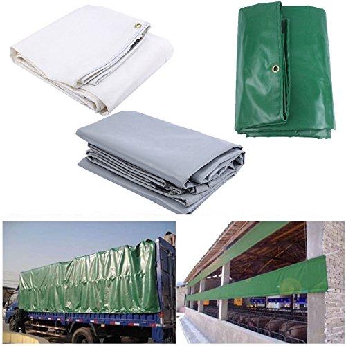 Paneltech 2x3m / 3x4m PVC Telone Occhiellato Telone Impermeabile e multiuso telo di protezione carport telone gazebo da giardino tenda tendone (3x4m, Verde)