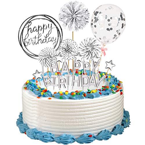 Decoración Tarta Topper 1 juego Cupcakes de Cumpleaños Decoración, Fiesta de Cumpleaños, QSXX Decoración del Hogar, Bodas, Bautizos Comunion Baby Shower, Adorno