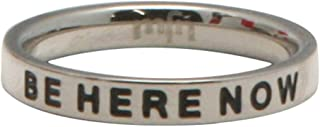 Buddha Groove Be Here Now Inspirational Staineless Steel Ring