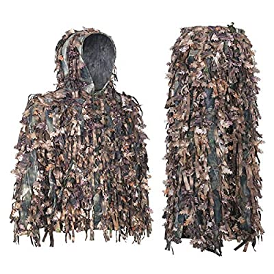 Auscamotek Ghillie Suit 3D Hybrid Camo Camouflage Lightweight Clothing Outdoor Gear Ghillie Suits, M/L & XL/XXL