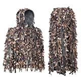 Auscamotek Leafy Ghillie Suit 3D Hunting Ghilly Yellow M-L