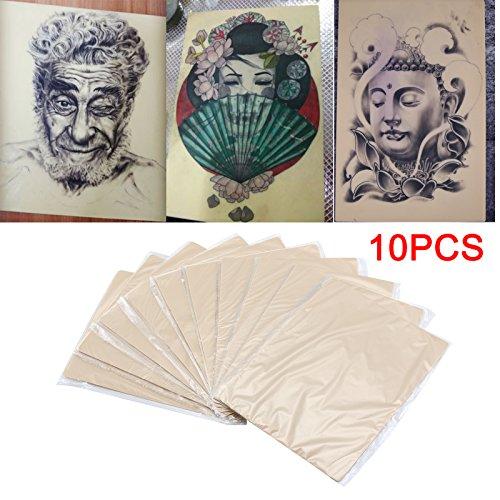 KingSaid 10er Tattoo Übungshaut Set Profi Kunsthaut Tätowieren Ohne Motiv 20 x 15 x 0.15cm