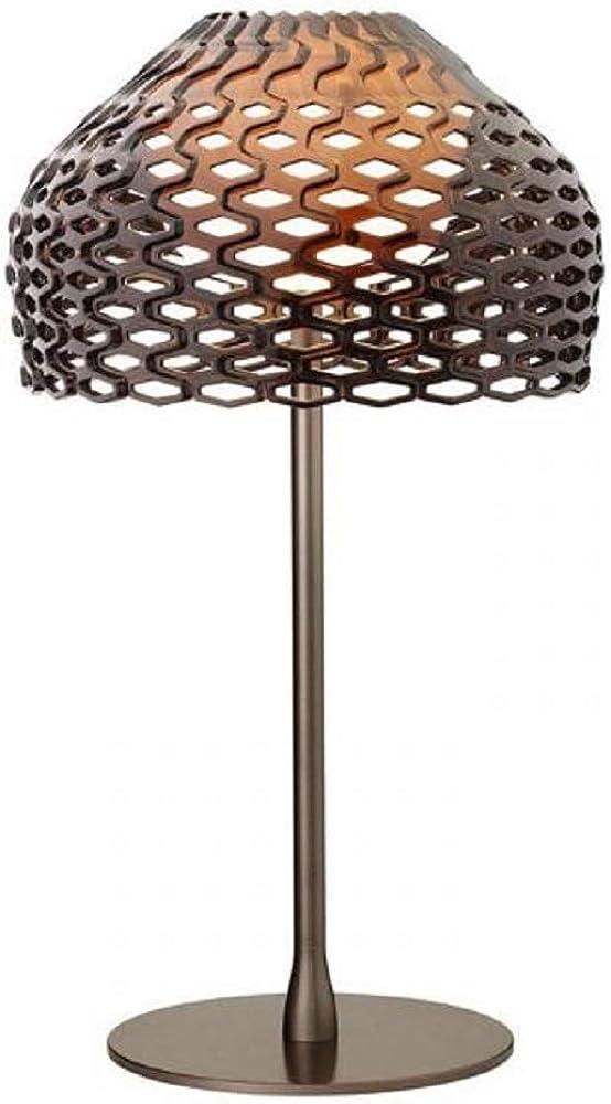 Flos ,lampada da tavolo flos tatou t1 , grigio ocra