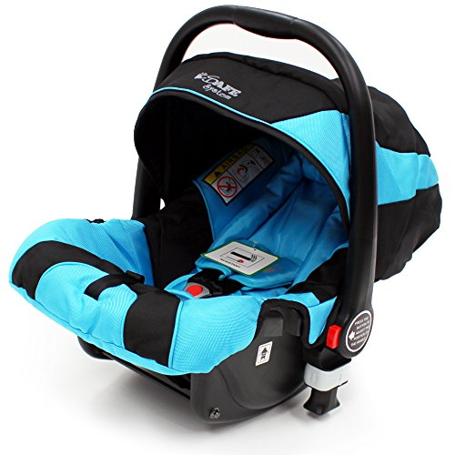 iSafe System + iSOFIX Base - Ocean Trio Travel System Pram & Luxury Stroller 3 in 1 Complete with Car Seat + Footmuff + Carseat Footmuff + RainCovers