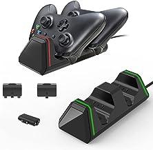 O carregador duplo de gamepad é adequado para Xbox Series X / S, kit de carregamento de bateria de gamepad totalmente comp...