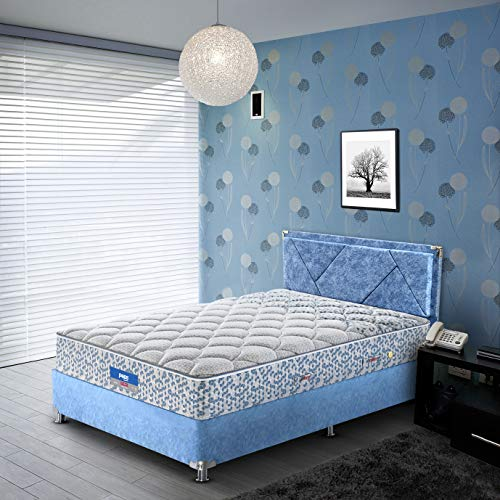 Peps Restonic Carousel 06 inch Single Size Pocketed Spring Mattress (Light Blue 72X36X06) Get Free Pillow