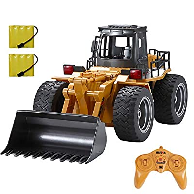 TEMA1985 RC Truck 6 Channel Full Functional Front Loader 4WD Remote Control RC Construction Vehicles Toy Tractor with Lights & Sounds from Luck-Broccoli