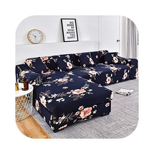 Sofabezug, bedruckt, elastischer Sofabezug, für verschiedene Sofas, Sessel, großes Sofa, L-Farbe, 14-2 Seater und 3 Seater