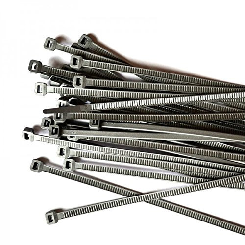 Gocableties kabelbinders zilver/grijs - 300 mm x 4,8 mm - goede kwaliteit, sterke nylon banden, 100 stuks