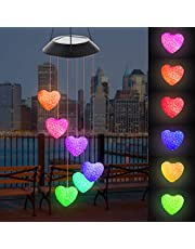 Fohil Campanilla de Viento Solar, Cambio de Color LED Carillón de Viento Impermeable para Interiores, Exteriores, Jardinería al Aire Libre, Decoración del Hogar