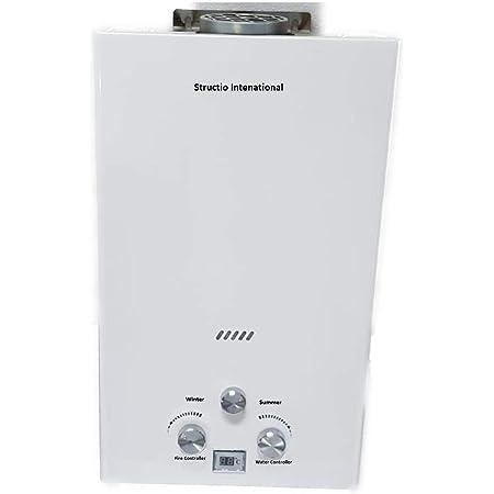Calentador de gas Agua Caldera Caldera Gas Calentador – Calentador de agua portátil camping ducha 10 litros camping ducha Caballos ducha