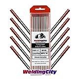 WeldingCity 10-pk Premium TIG Welding Tungsten Electrode Rod 2.0% Thoriated (Red, EWTh20) 3/32' x 7'   10-pcs
