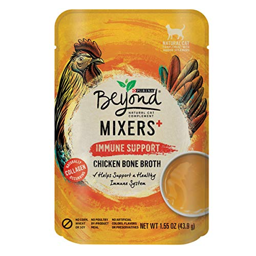 Purina Beyond Limited Ingredient, Natural Wet Cat Food Complement, Mixers Immune Support Chicken...