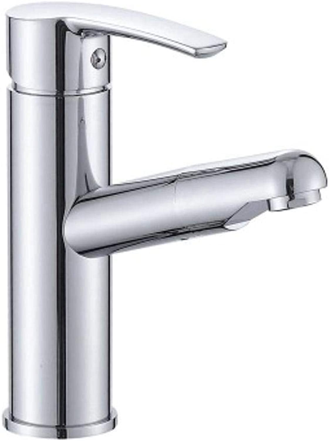 Tap Kitchen Pull Out,Pull-Out Basin hot and Cold Faucet washbasin Basin Bathroom Cabinet with Telescopic Hose Shampoo Faucet