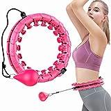 Churidy Hula Reifen Hoop Smart Fitness für Erwachsene zur Gewichtsabnahme und Massage, Hula-Ring, 24 Segmente verstellbare Größe fällt Nicht, gewichtet Sportausrüstung, für Anfänger