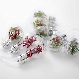 Comix Christmas Tree Hanging Ornaments Decorations Xmas Trees Ornament, Wedding Party Home Decors (Plastics LED Bulb, 2.36''- 8pk)