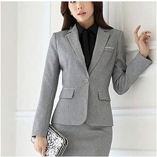 Women Plus Size Casual Slim Suits Jacket Office Lady Elegant Long Sleeve Single Button Solid Formal Work Blazer Coat