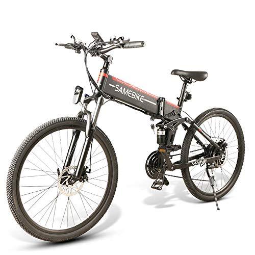 Coolautoparts Bicicletta Elettrica Pieghevole 350W/500W 25km/h 26 Pollici Uomini Donne Mountain Bike 48V 10AH Batteria al litio SHIMANO a 21 Velocità Freno a Disco Certificazione CE [EU STOCK]