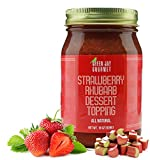 Green Jay Gourmet Strawberry Rhubarb Dessert Topping – All-natural Strawberry Rhubarb Pie Filling...
