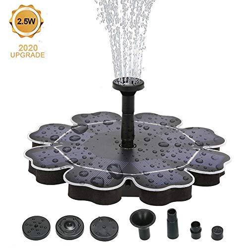 2,5 W Solarpumpe Springbrunnenpumpe Mit 4 Verschiedenen Düsen Solarwasserpumpe Springbrunnenpumpe Für Gartenteichbrunnen, 180 L/H, 1,2 M