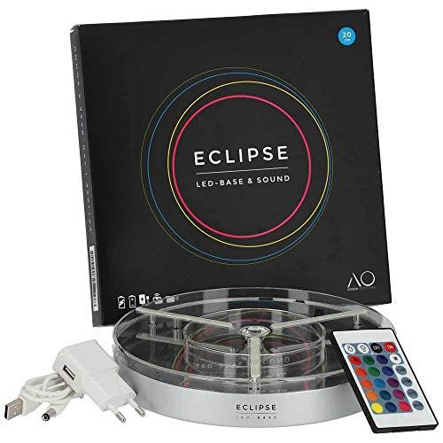 AO® Shisha Eclipse LED-Untersetzer 20cm | Bringt Licht in Deine Bowl!
