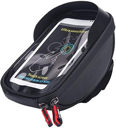 Fahrrad-Beutel-Fahrrad-Beutel-Fahrrad-Rahmentasche wasserdichter Fahrrad-Lenkerrohr-Telefon-Beutel-Halter-Fahrrad-Telefon-Beutel (Color : A)