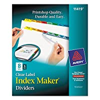 Avery Index Maker Punched Clear Label Tab Divider (11419)