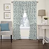 WAVERLY Curtains for Bedroom - Charmed Life 52' x 84' Decorative Single Panel Rod Pocket Window Treatment Privacy Curtains for Living Room, Cornflower