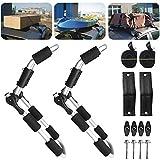 Soporte para kayak, soporte de techo para kayak, juego de barras en J, soporte de barra en J de alta resistencia para transporte de kayak, canoa, bote, tabla de remo, tabla de surf, montaje en la part